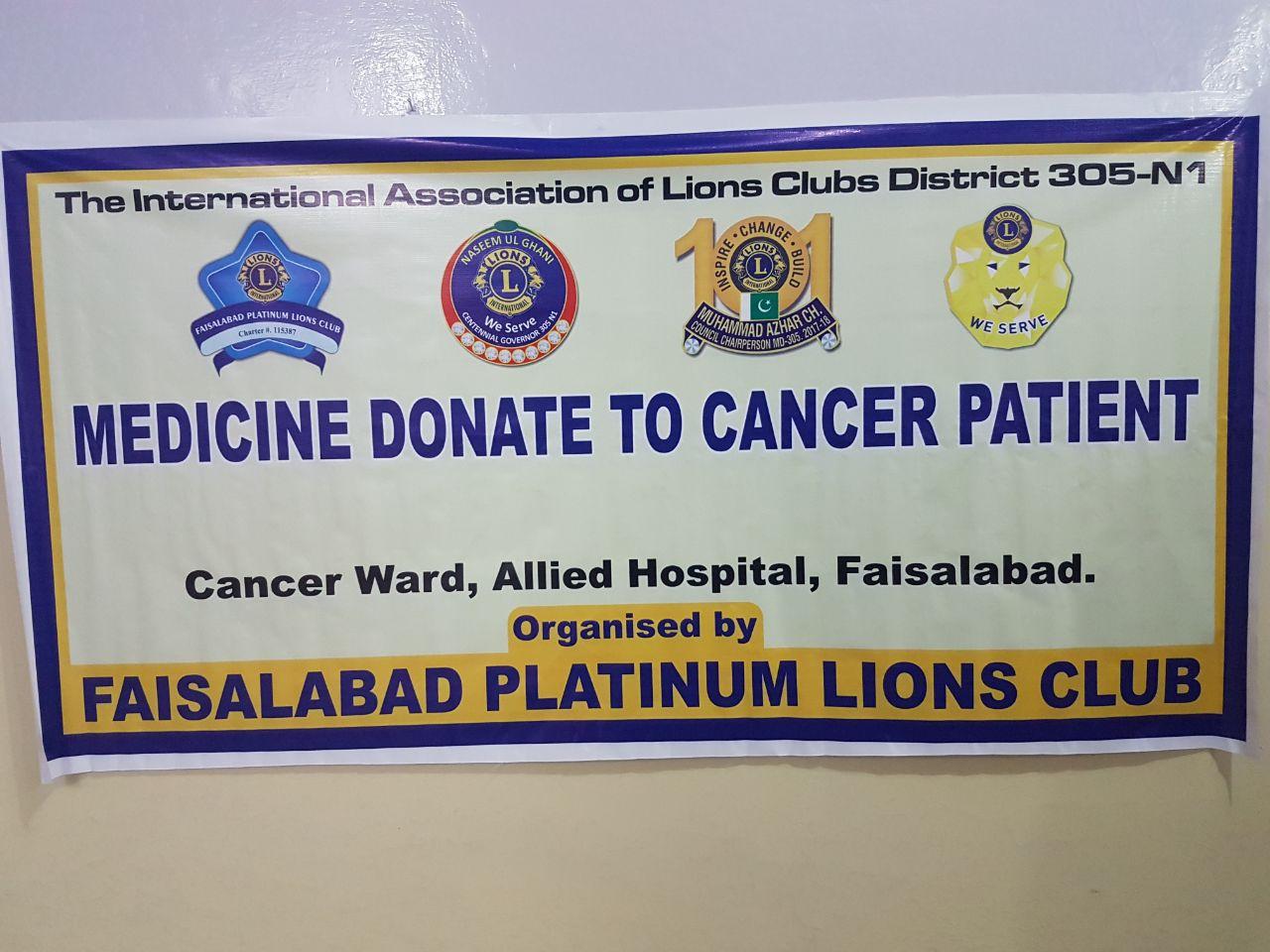 CHEMOTHERAPY DONATION